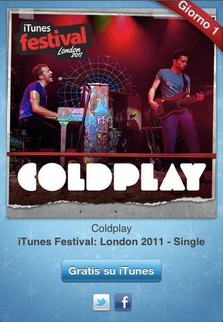 12gg 12 giorni di regali: oggi per voi gratis un singolo dei Coldplay