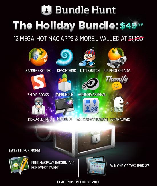 BundleHunt launch Scade domani BundleHunt, il bundle Mac del valore di $ 1.100 ma venduto a $ 49,99