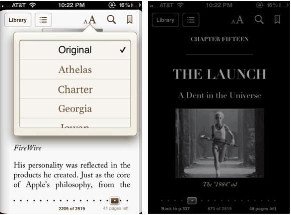 Schermata 12 2455903 alle 10.50.40 580x429 iBooks si aggiorna introducendo nuovi font e una modalità di lettura notturna