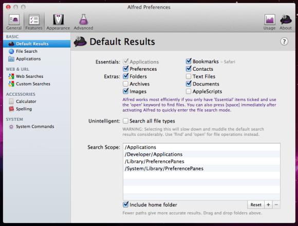 alfred app 3 580x441 Alfred, il maggiordomo per il nostro Mac.