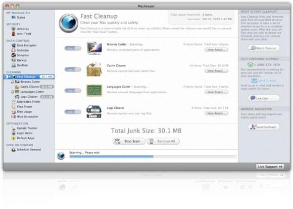 oneclick2 580x413 Prova su strada, recensione e verità su MacKeeper