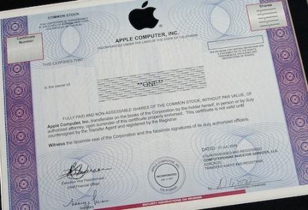azioni Apple Le Azioni Apple sono ancora il miglior investimento anche per il 2012.