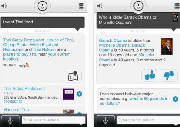 evi 580x411 Evi: unapplicazione alternativa per i dispositivi iOS senza Siri