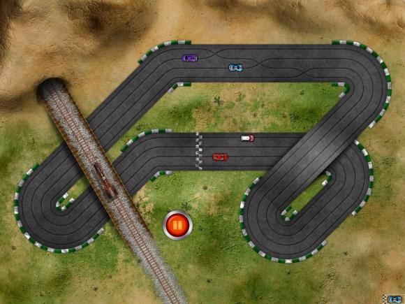 ipad 5 580x435 Giochiamo con le macchinine su iPad: Old School Race multiplayer Pro