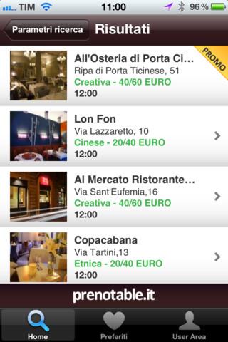 preno1 Prenotable, app per trovare, condividere sui social e prenotare ristoranti in Italia