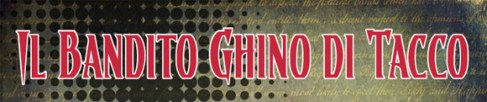 Titolo Ghino di Tacco, un fumetto elettronico