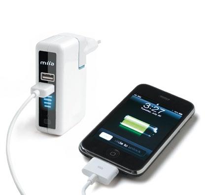 Two battery web Miia Two Battery, caricatore e batteria di emergenza per iPhone e iPad