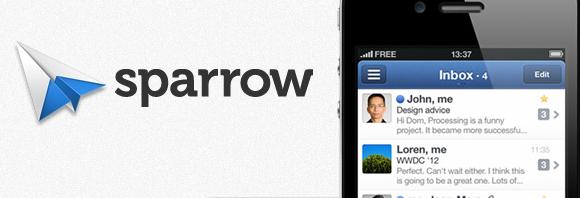 sparrow home Sparrow per iPhone. Ottimo client per le mail.