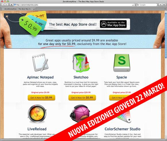 zero99marzo Il 22 Marzo ben 9 App per Mac super ribassate a € 0,79 in collaborazione con Italiamac