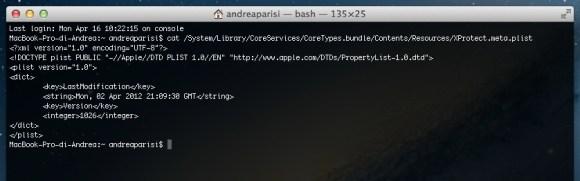 comando terminale 580x181 Consigli Utili per mantenere efficiente il Vostro Mac.