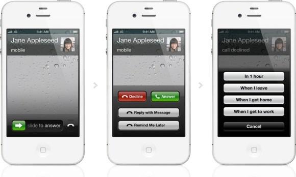 iOS6Callfeature 580x348 Nuovo iOS 6: funzionalità e disponibilità