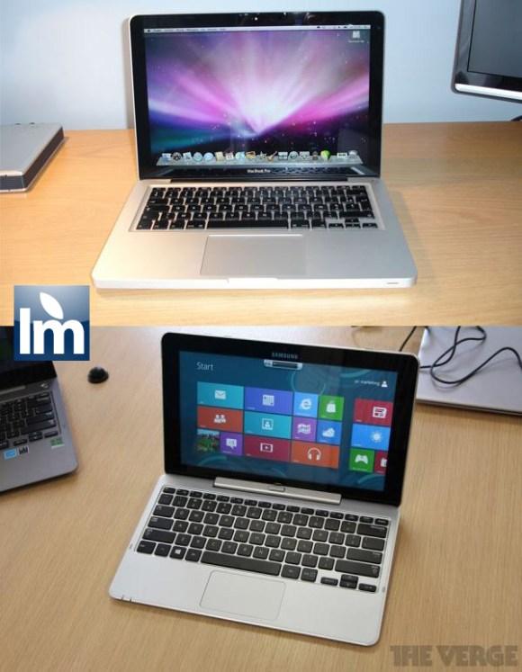 Samsung Slate apple macbook 580x747 Trova le differenze. Nuovo Samsung Slate e MacBook Pro, gemelli separati alla nascita?