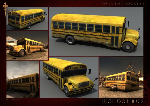VHC Schoolbus1 580x410 Teaser e screen shots in anteprima di Project: Holy Shield, gioco iOS  in uscita questinverno