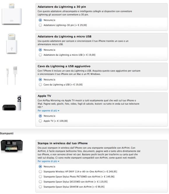 accessoriiphone5 580x666 iPhone 5 disponibile anche online sullo store di Apple