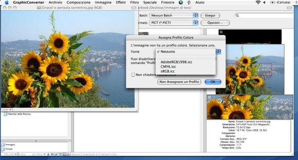 gc screen2 580x313 Italiaware annuncia il rilascio dellaggiornamento di GraphicConverter 8.3 in italiano