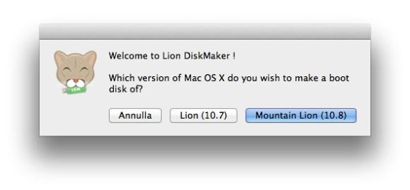 lion disk maker 580x269 Come creare una chiavetta o supporto esterno per installare Mountain Lion