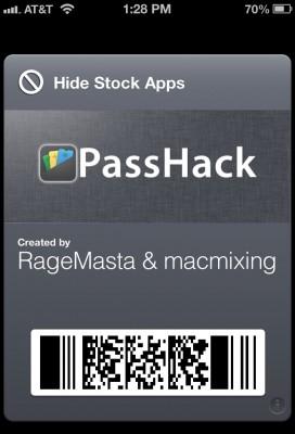 %name PassHack: usare Passbook al posto del jaibreak per nascondere le icone delle app native su iOS 6