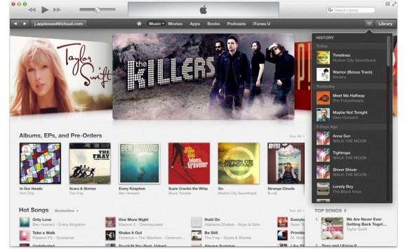 itunes11d 580x355 Apple iTunes 11, promosso anche da Wired