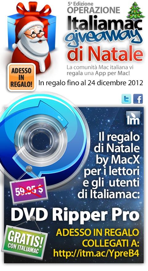 macx dvdrippe adesso480 Italiamac Giveaway di Natale: Ecco lapp per Mac in regalo