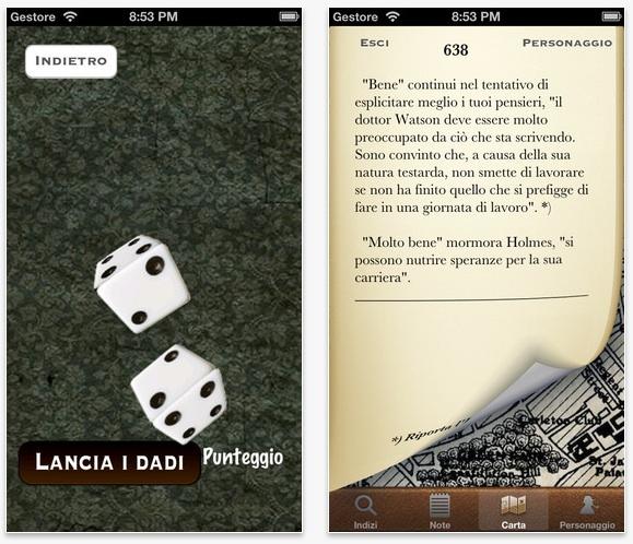 Sherlock01 Sherlock Holmes 1   Omicidio al Diogenes Club, una app un po gioco e un po libro per iOS