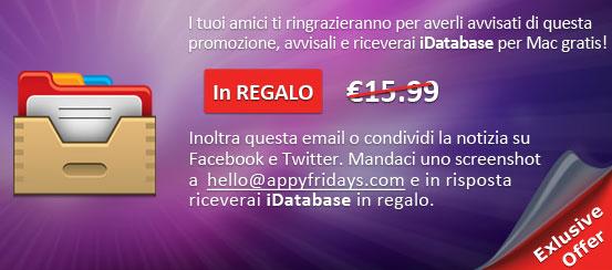 regaloidatabase Italiamac Promo Weekend: 1 App in Regalo e 3 App iper scontate assieme a AppyFridays