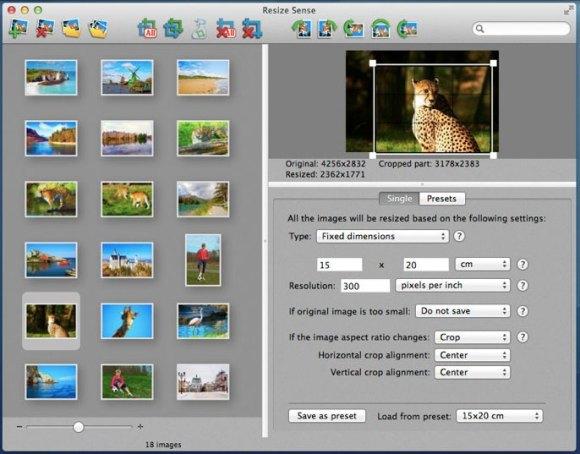 resize sense 01 580x454 Con Resize Sense per Mac ridimensionamento e trasformazione in batch diventano flessibili