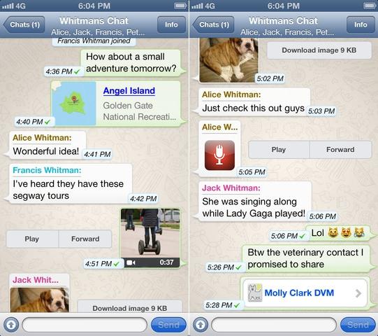 Whatsapp screenshot Whatsapp introdurrà la tassa di abbonamento entro la fine del 2013