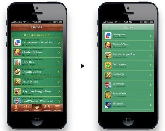 iOS7 Game Center Concept Jonathan Ive vuole un design più piatto e minimal per iOS 7