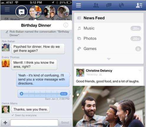 Facebook 6.0 Facebook per iOS si aggiorna per correggere i bug della versione 6.0