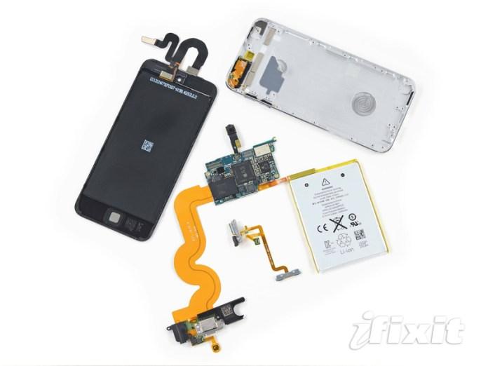 Componenti interne delliPod touch 5th 16gb Confronto tra liPod Touch 16GB low cost e la versione da 32GB