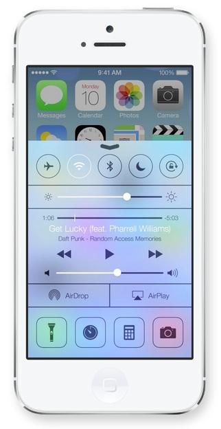 Control Center in iOS 7