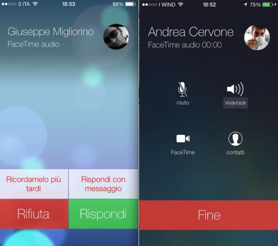 Facetime Audio in iOS 7 Quali sono i tweak e le applicazioni che andranno in pensione con iOS 7?
