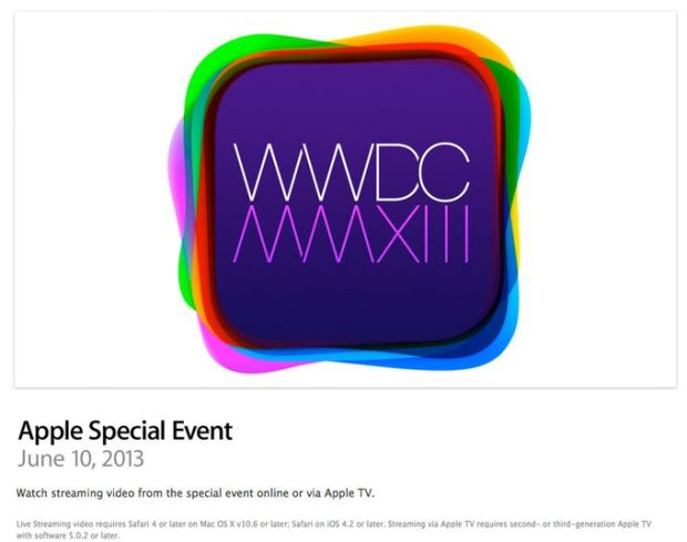WWDC 2013 in streaming su Apple 620x489 Il Keynote del WWDC 2013 in diretta streaming su Apple Tv e Safari