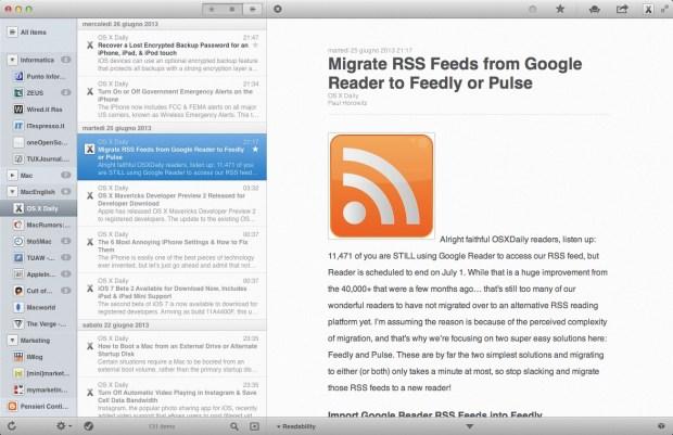 reeder italiamac 620x401 Google Reader Chiude! Prepariamoci alla Migrazione.