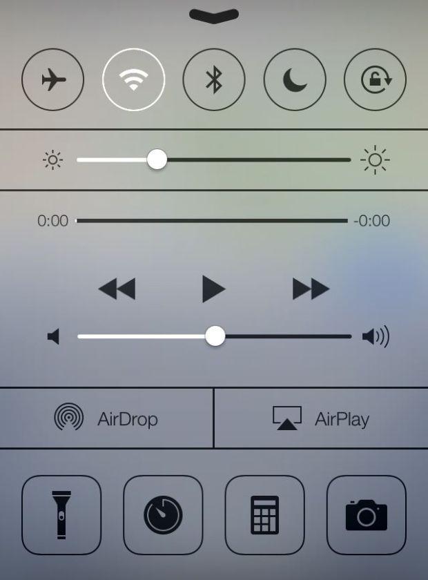 Control center in iOS 7 620x840 Benvenuto iOS7: Ecco tutte le novità e i link per il download diretto!
