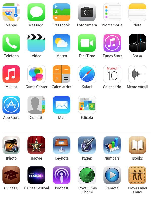 app incluse ios7 nuovi iphone [Galleria] Apple presenta il nuovo iPhone 5c, diamo uno sguardo al nuovo stile colorato made in Cupertino