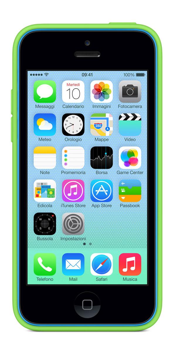 cases gallery front blue green [Galleria] Apple presenta il nuovo iPhone 5c, diamo uno sguardo al nuovo stile colorato made in Cupertino