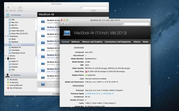 MacTracker 620x387 MacTracker per iOS e Mac si aggiorna