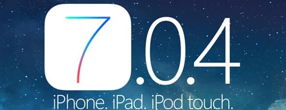 iOS 7.0.4 per iPhone iPad e iPod Touch Rilasciato iOS 7.0.4 per iPhone, iPad e iPod Touch