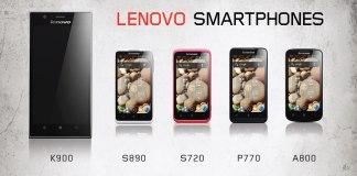 La linea di Smartphone Lenovo