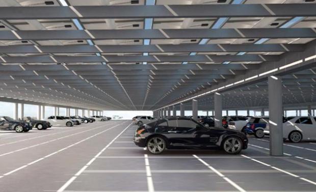 parcheggio nuovo campus apple 620x378 Apple pronta al trasloco nel suo nuovo campus futuristico