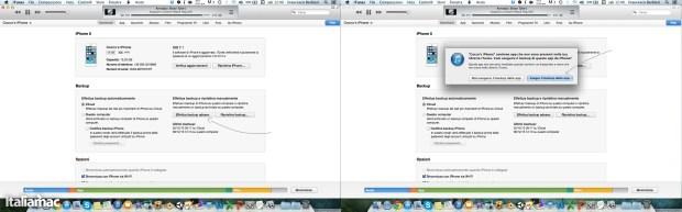 Eseguire il backup con iTunes 620x193 Guida: Jailbreak di iOS 7 con Evasi0n 7