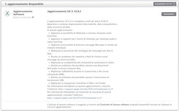 10 9 2 620x384 Aggiornamento Mac OS X Mavericks 10.9.2 * Aggiornato (risolto #gotofail)