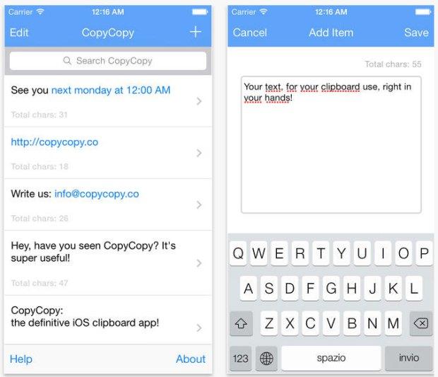 CopyCopy 620x533 CopyCopy, un clipboard manager per iOS che integra iCloud