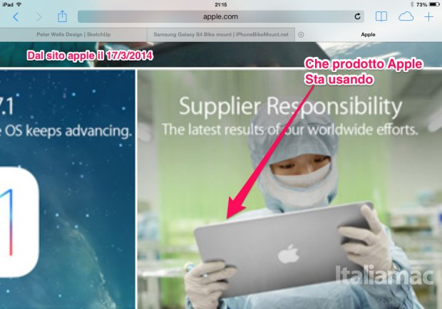 nuovo ipad apple maxi 620x434 Strano iDevice sul sito Apple, un nuovo iPad Maxi? Grafici distratti o effetto ottico?