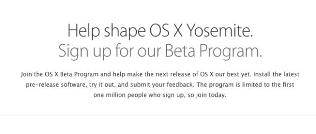 YOSEMITBETA 620x263 La versione di OSX Yosemite Beta sarà disponibile per tutti gli utenti