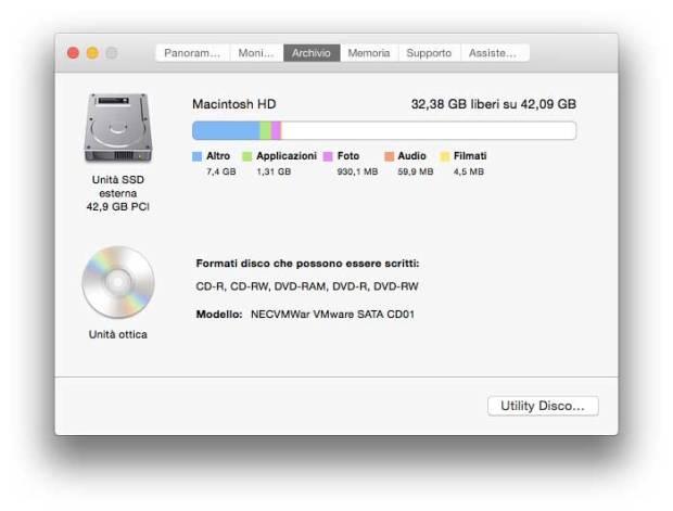 Yoseinfo3 620x471 OS X 10.10 Yosemite presenta una nuova finestra, informazioni di sistema