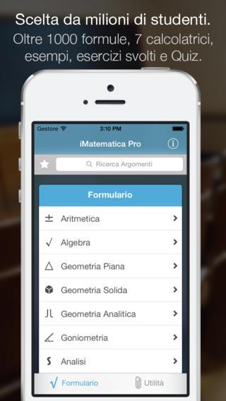 app15 iMatematica Pro, unApplicazione per lo studio della matematica