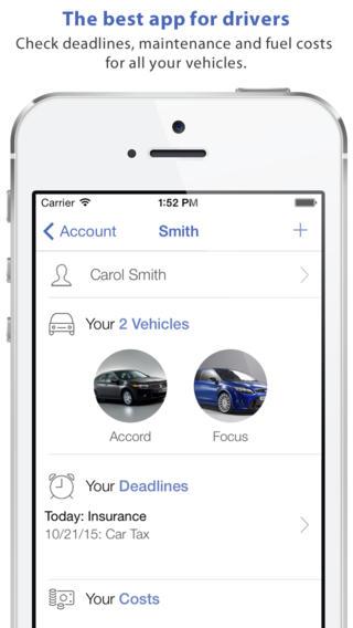 app19 Auto Mobile unApp che permette di tenere traccia delle vostre scadenze e dei costi dei vostri veicoli per la manutenzione