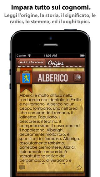 app44 iCognomi, unApplicazione con cui potrai scoprire la storia, il significato, le radici e i luoghi tipici dei cognomi
